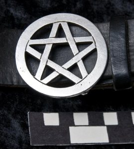 Pentagram belt buckle