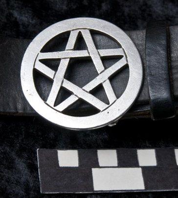 Pentagram belt buckle